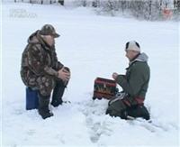 Видео «Клёвое место» — Зимняя рыбалка на Истринском водохранилище