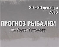 Видео «Прогноз рыбалки от Бориса Саксонова» — 20 — 31 декабря 2013