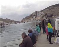 Крым. Балаклава - Рыбалка с пирса на кефаль и луфарь