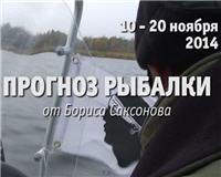 Видео «Прогноз рыбалки от Бориса Саксонова» — 10 — 20 ноября 2014