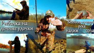Весенняя ловля густеры и налима на донные снасти