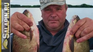 Рыбалка с лодки бортовыми удочками - Салапин
