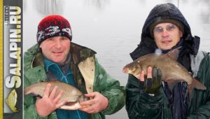Отличная рыбалка на фидер зимой (рыболовная байка) - Салапин