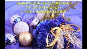 Новогодние поздравления от друзей — С рыбалкой по жизни!