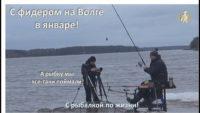 С фидером на Волге в январе — С рыбалкой по жизни!
