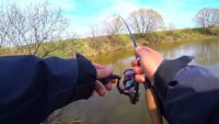 Трофей малой реки ранней весной