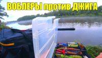 Воблеры против джига летом на реке в июле