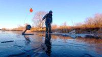 Рыбалка по первому льду сезона 2020-2021  — Рыбалка на реке
