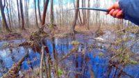 Рыбалка на торфяном ручье весной - Павел Теплов