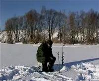 """Видео """"Диалоги о рыбалке"""" - Москва, Строгино. Окунь на мормышку."""